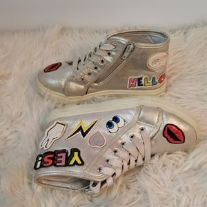 Justice Silver Patch Sneakers